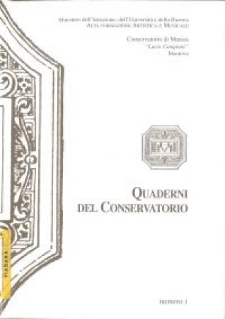 Quaderni Conservatorio